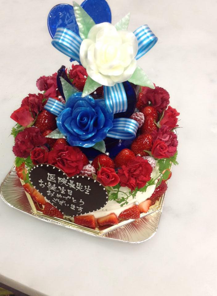 花の飴細工ケーキ